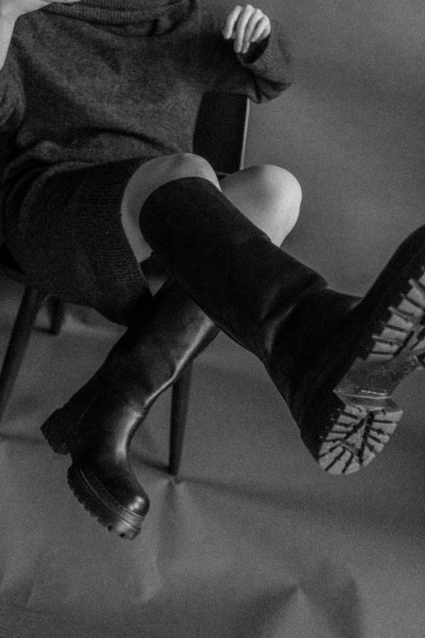 ARKET Alpaka Wool Knitdress & Chunky Leather Boots