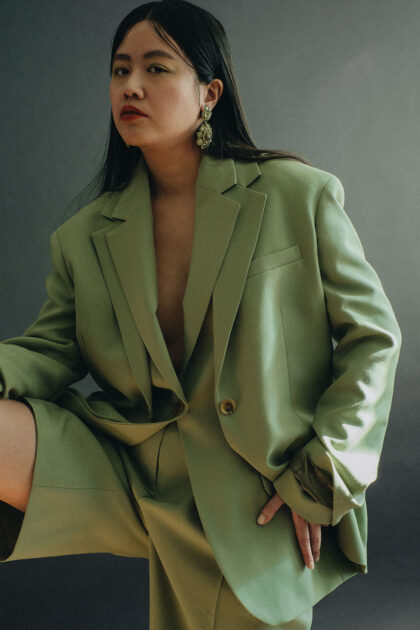 Green Oversize Wool Hopsack Suit by ARKET / Travel, Lifestyle & FashionBlog by Alice M. Huynh – iHeartAlice.com