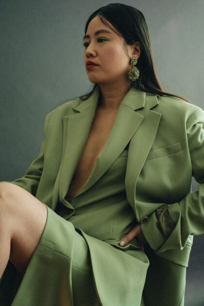 Green Oversize Wool Hopsack Suit by ARKET / Travle, Lifestyle & FashionBlog by Alice M. Huynh – iHeartAlice.com