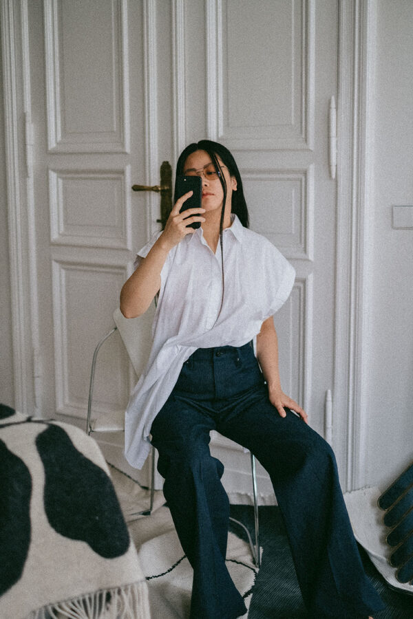 Ultra High Wide Leg Denim / G-Star RAW Jeans & Hien Le S/S 21 Blouse – iHeartAlice.com / Minimalist fashion, lifestyle & travelblog from Berlin, Germany by Alice M. Huynh