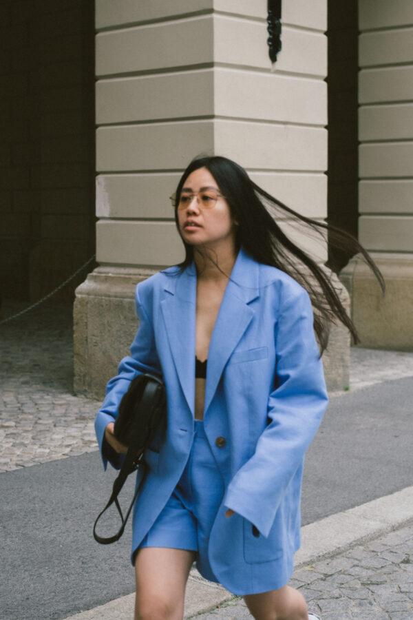 Summer Suiting in Cotton Hemp & Bottega Veneta Padded Cassette Bag / Asics x Vivienne Westwood Sneakers – Berlin Travel, Lifestyle & Fashionblog by Alice M. Huynh – iHeartAlice.com
